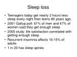 sleep loss