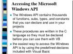accessing the microsoft windows api