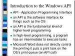 introduction to the windows api