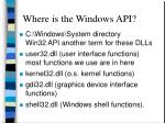 where is the windows api