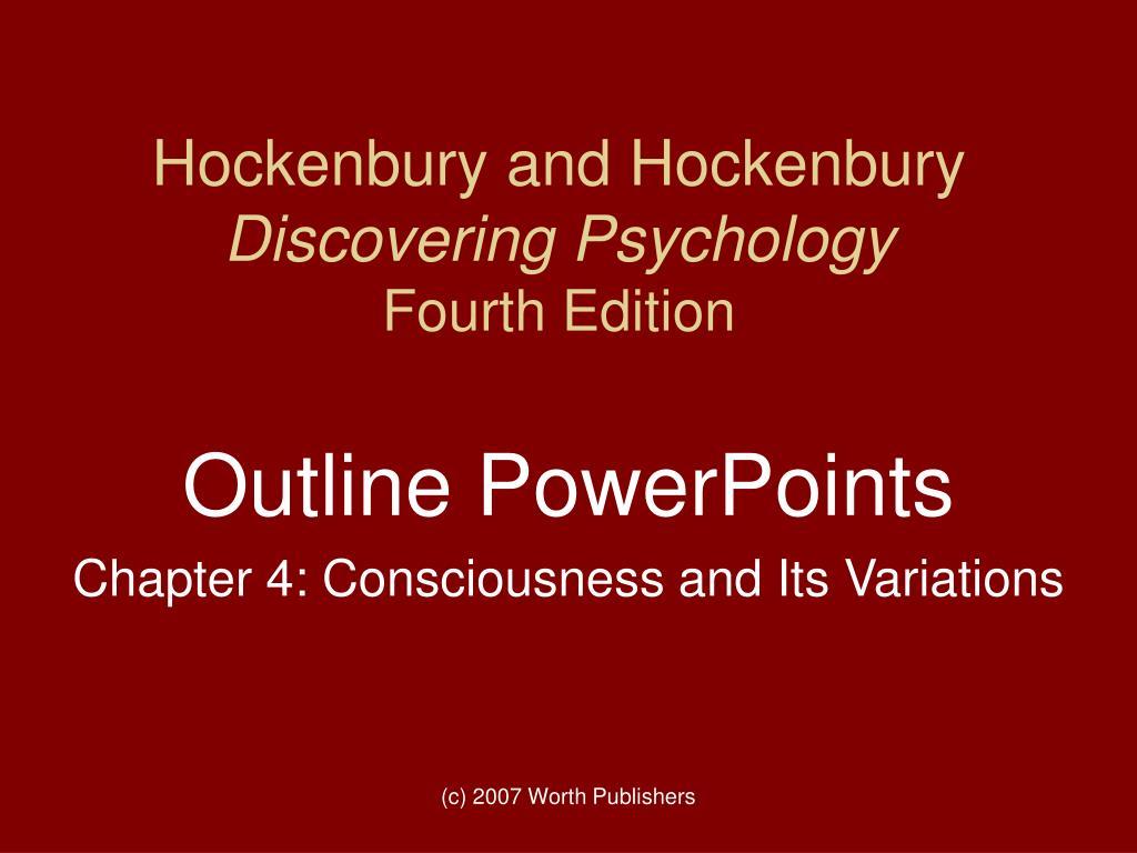 hockenbury and hockenbury discovering psychology fourth edition l.