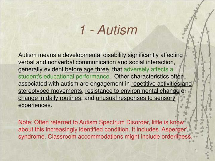 1 - Autism