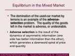 equilibrium in the mixed market13