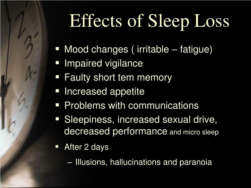 Effects of Sleep Loss