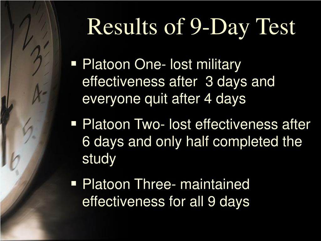 Results of 9-Day Test