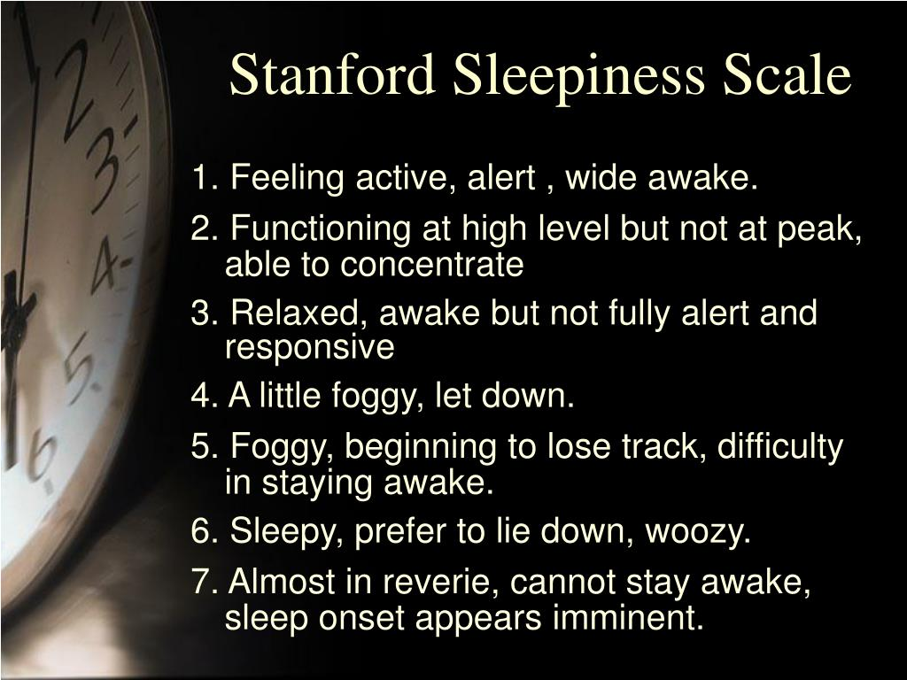 Stanford Sleepiness Scale