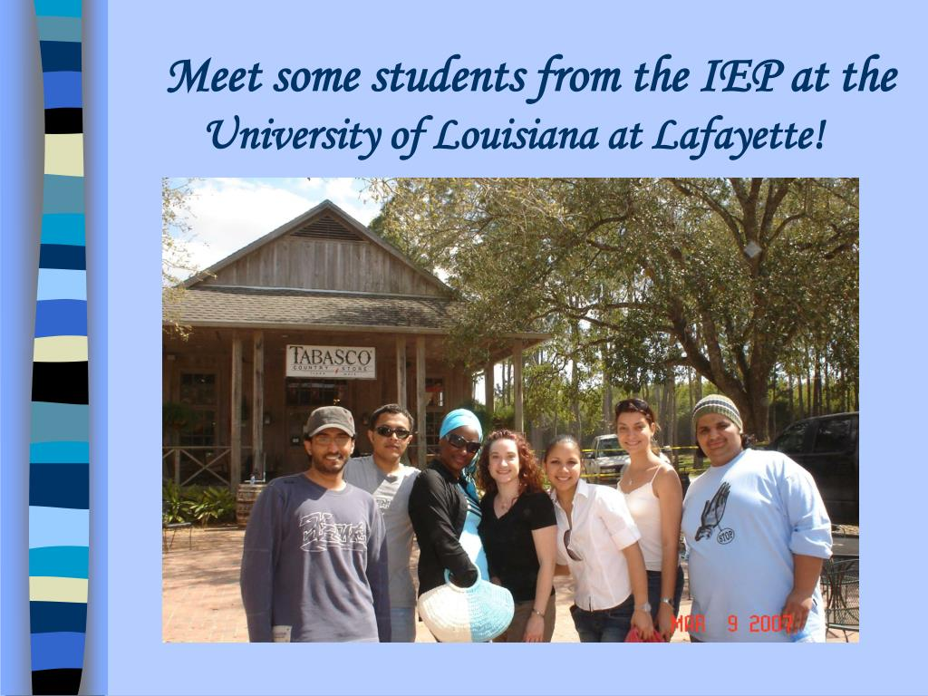 meet some students from the iep at the university of louisiana at lafayette l.