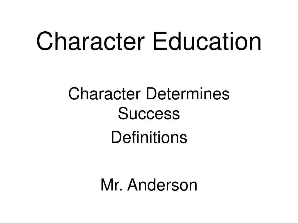 character education l.