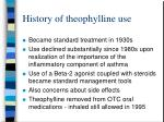 history of theophylline use