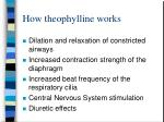 how theophylline works