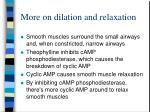 more on dilation and relaxation