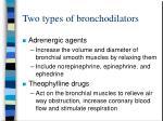 two types of bronchodilators
