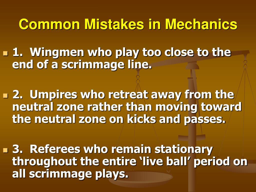 Common Mistakes in Mechanics