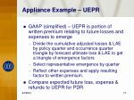 appliance example uepr
