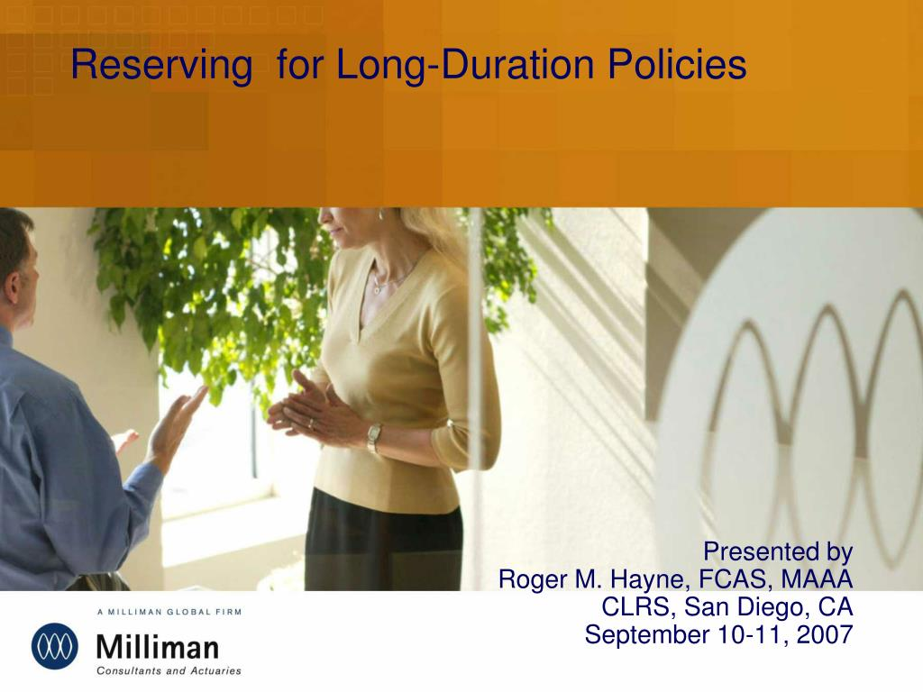 reserving for long duration policies l.