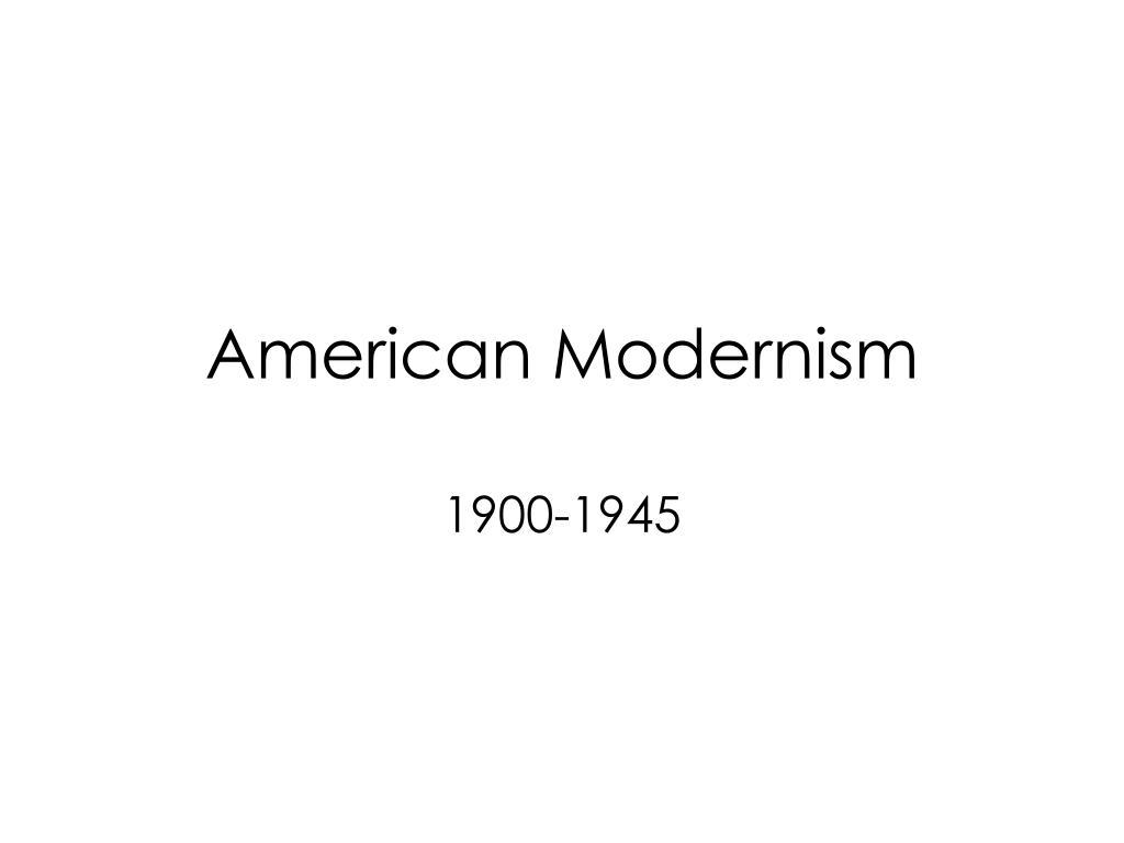 american modernism l.