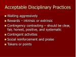 acceptable disciplinary practices
