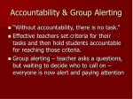 accountability group alerting