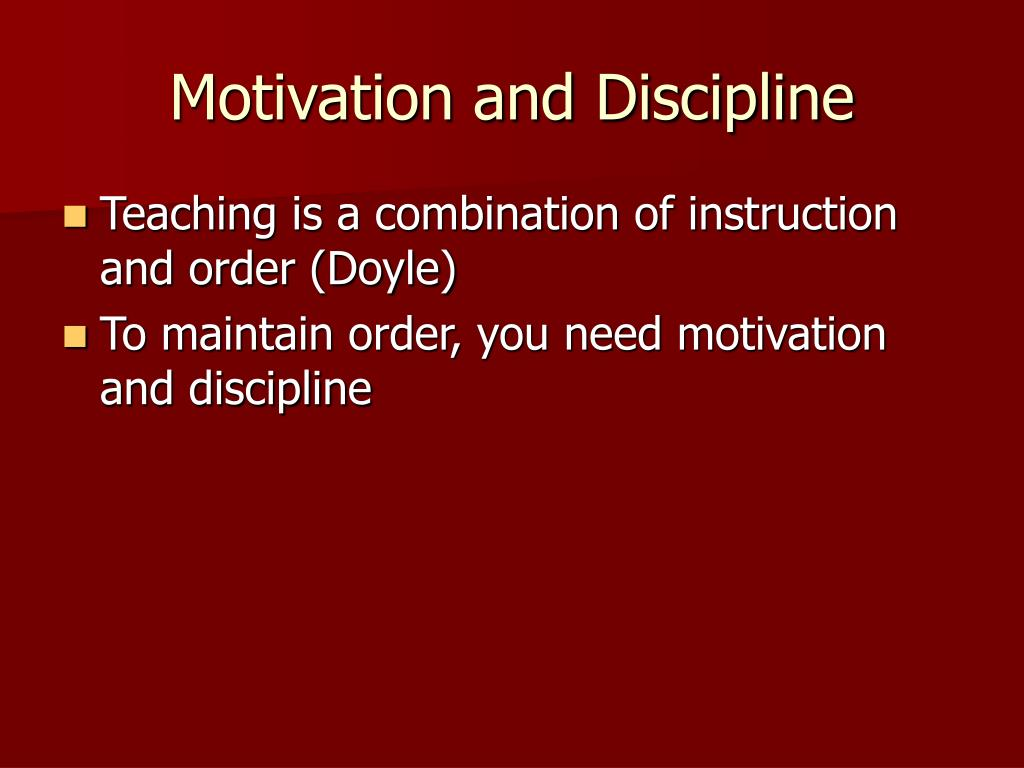 motivation and discipline l.