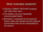 what motivates students