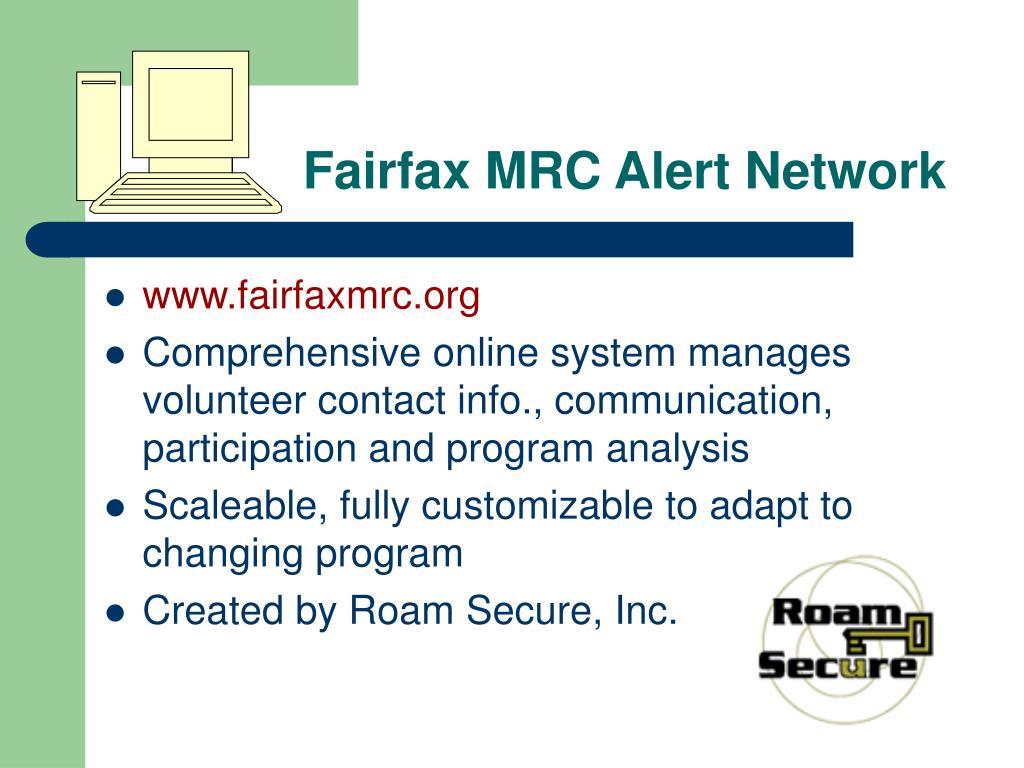 Fairfax MRC Alert Network