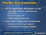 flexible and extensible
