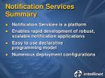 notification services summary