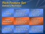 rich feature set delivery richness