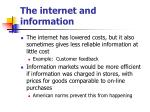 the internet and information