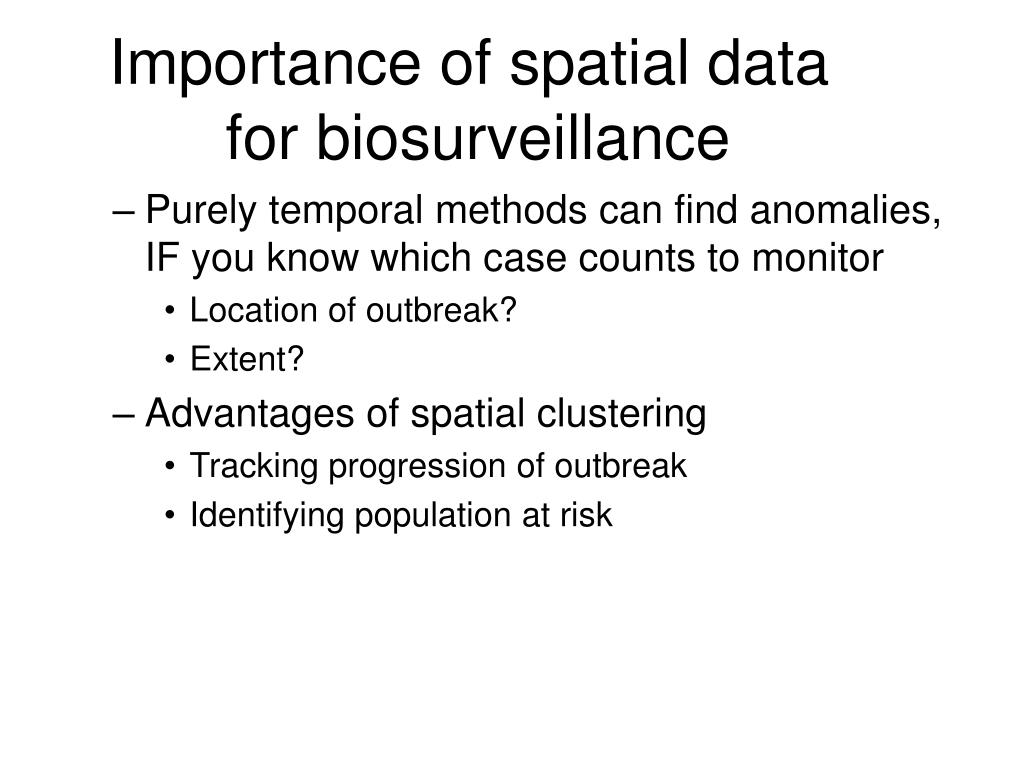 Importance of spatial data