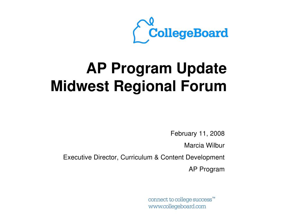 ap program update midwest regional forum l.