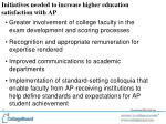 initiatives needed to increase higher education satisfaction with ap