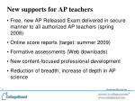 new supports for ap teachers