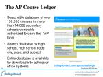 the ap course ledger