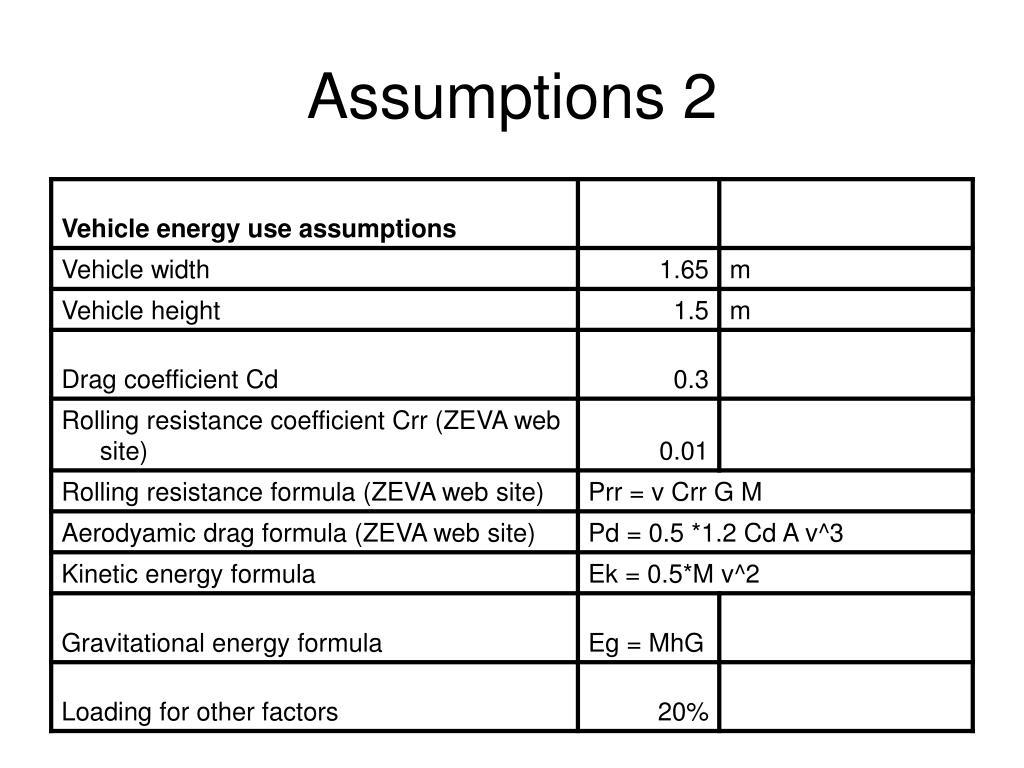 Assumptions 2