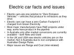 electric car facts and issues