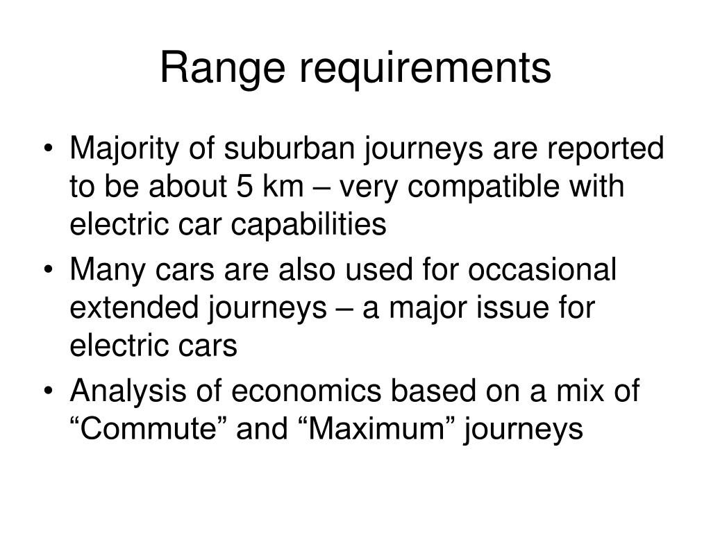 Range requirements