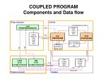 coupled program components and data flow