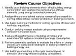 review course objectives
