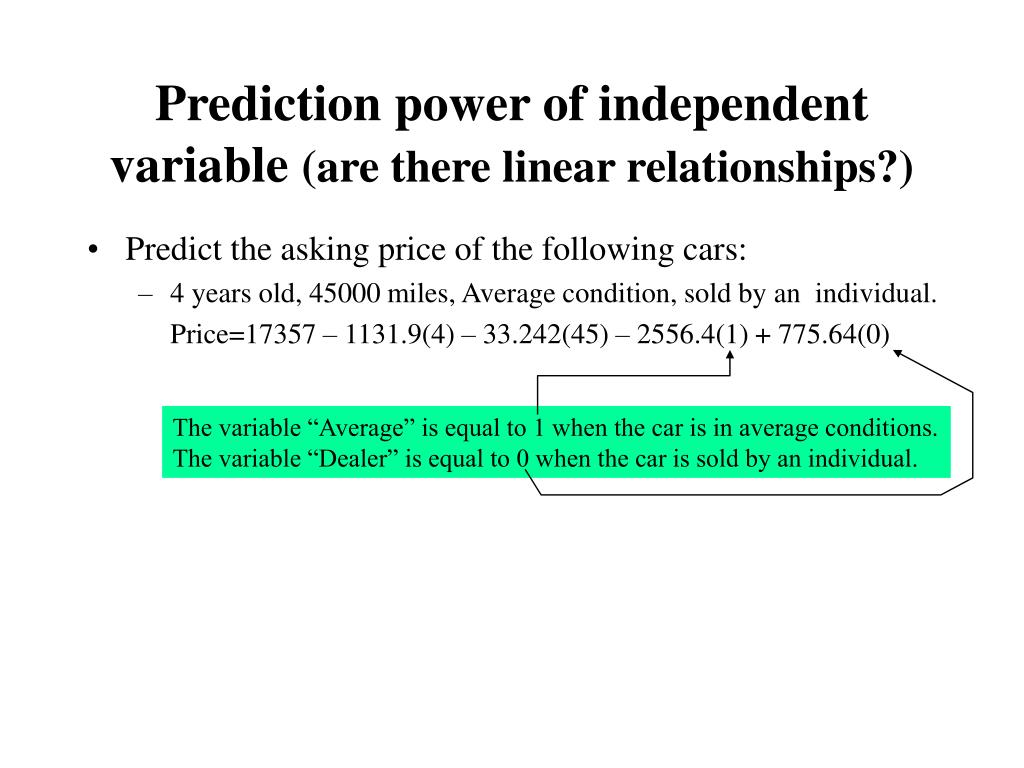 """The variable """"Average"""" is equal to 1 when the car is in average conditions."""