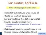 our solution safecode