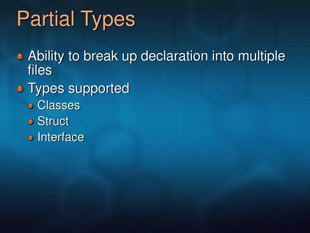 Partial Types