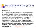 needleman wunsch 3 of 3