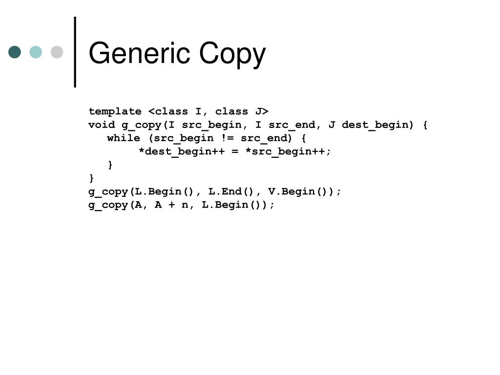 Generic Copy