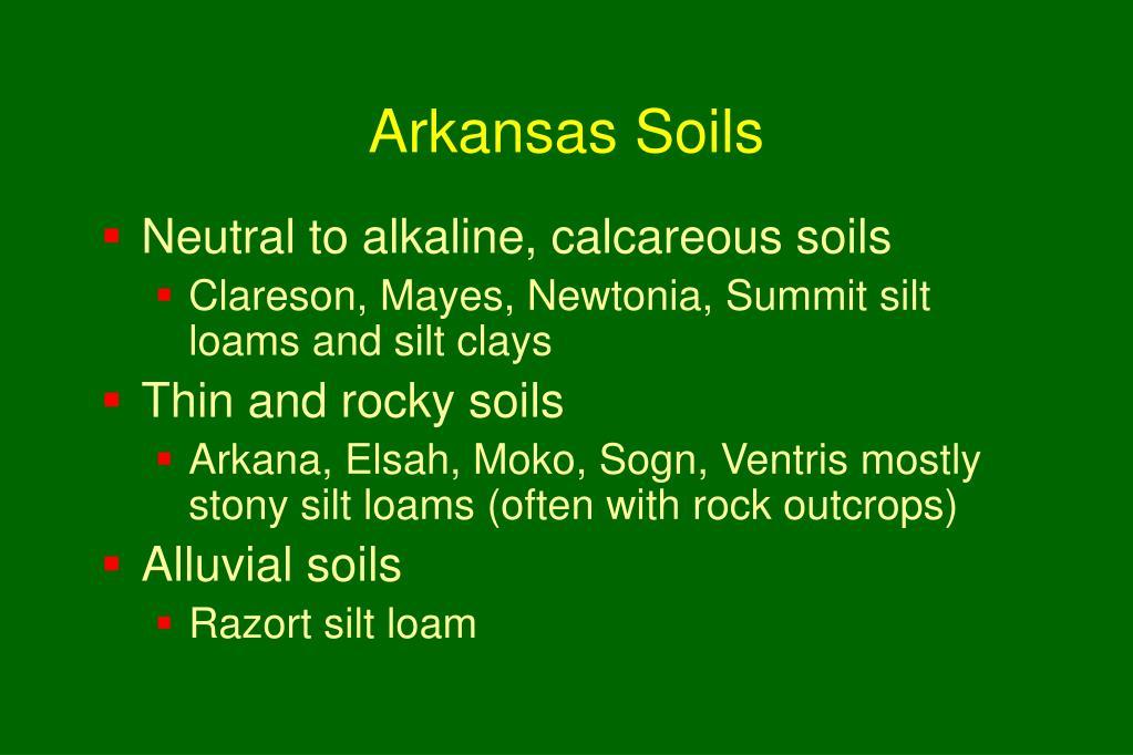 Arkansas Soils