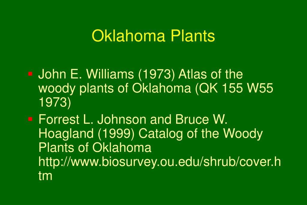 Oklahoma Plants