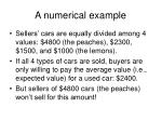 a numerical example11