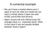 a numerical example14