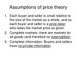 assumptions of price theory