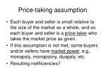 price taking assumption